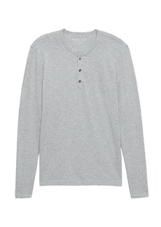 Banana Republic Vintage 100% Cotton Long-Sleeve Henley T-Shirt