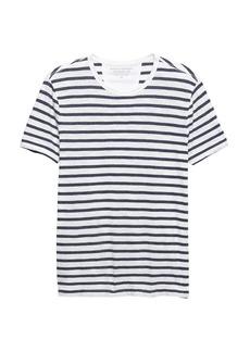 Banana Republic Vintage 100% Cotton Stripe Crew-Neck T-Shirt