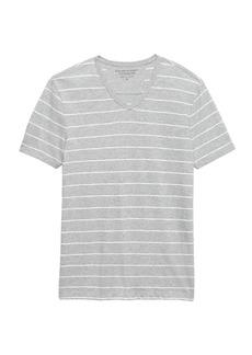 Banana Republic Vintage 100% Cotton Stripe V-Neck T-Shirt