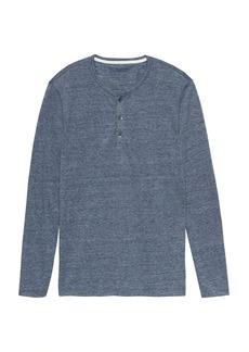 Banana Republic Vintage Long-Sleeve Henley T-Shirt