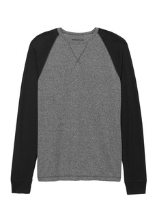 Banana Republic Waffle-Knit Cotton-Modal Baseball T-Shirt