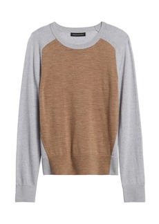 Banana Republic Washable Merino Color-Block Sweater
