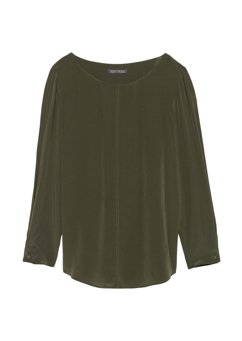 Banana Republic Washable Silk Boat-Neck Top