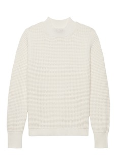 Banana Republic Washable Wool-Cashmere Mock-Neck Sweater