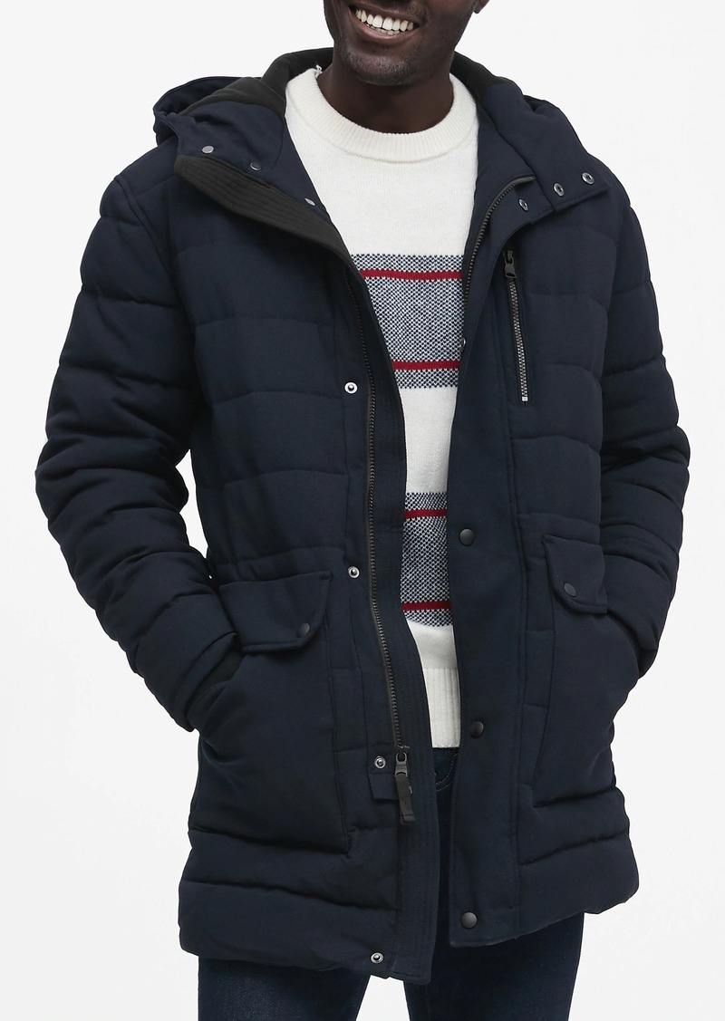 Banana Republic Water-Repellent Quilted Parka