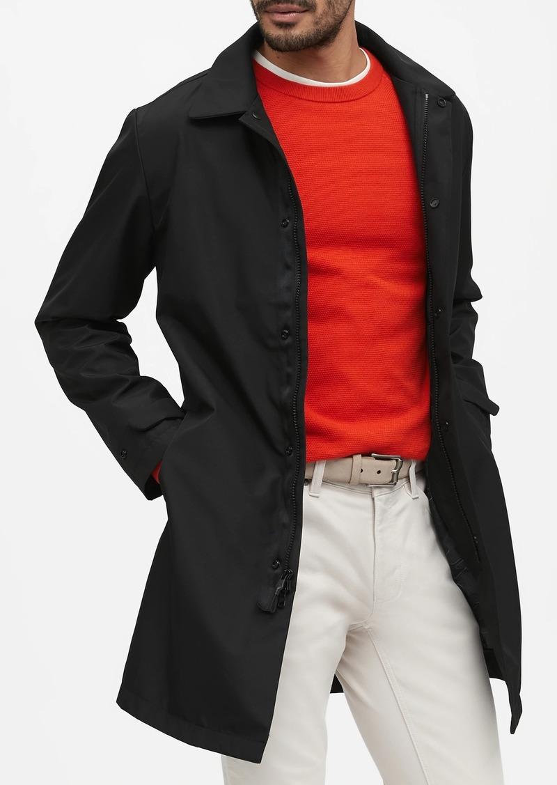 Banana Republic Water-Resistant 3-Layer Mac Jacket