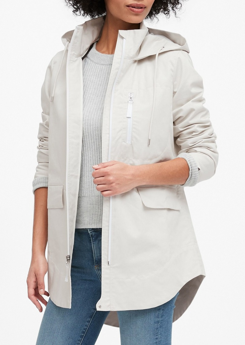 Banana Republic Water-Resistant Linen-Cotton Rain Jacket
