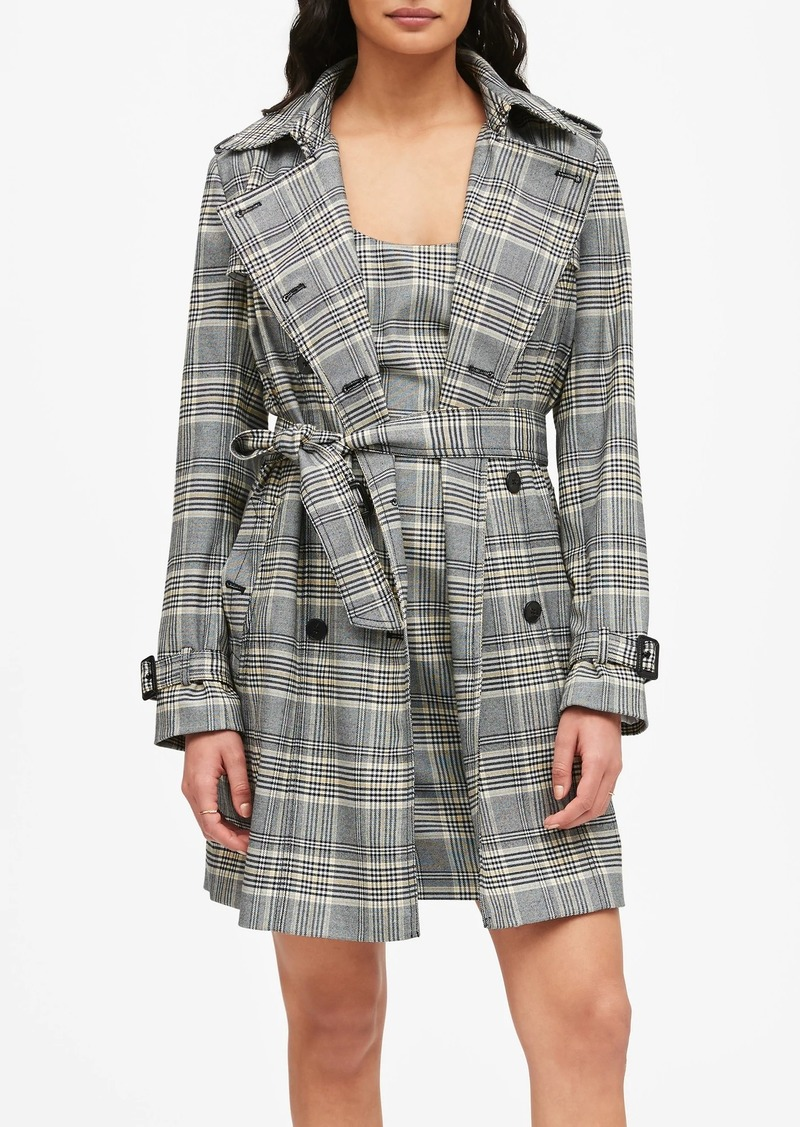 Banana Republic Plaid Trench Coat