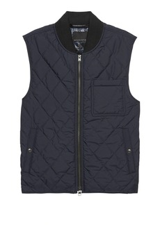 Banana Republic Water-Resistant Quilted Vest with Chest Pocket