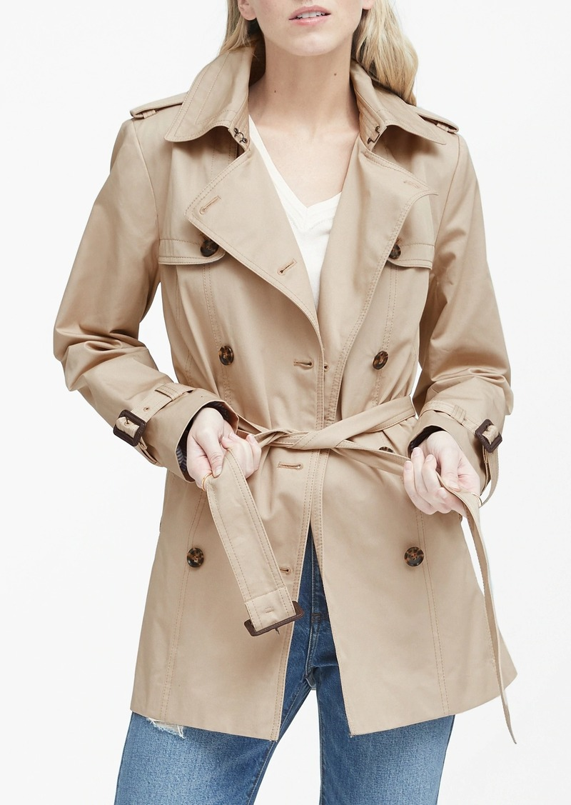 Banana Republic Water-Resistant Short Trench Coat