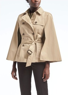 Water-Resistant Trench Cape