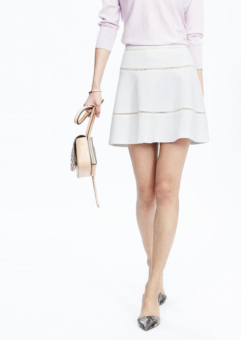 Banana Republic White Jacquard Skirt