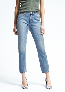 Banana Republic White Oak® High-Rise Light Wash Vintage Straight Jean