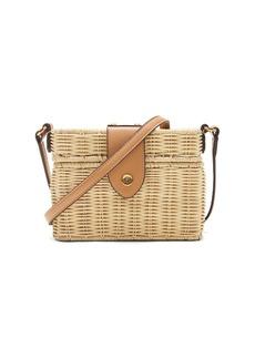 Banana Republic Wicker Basket Bag