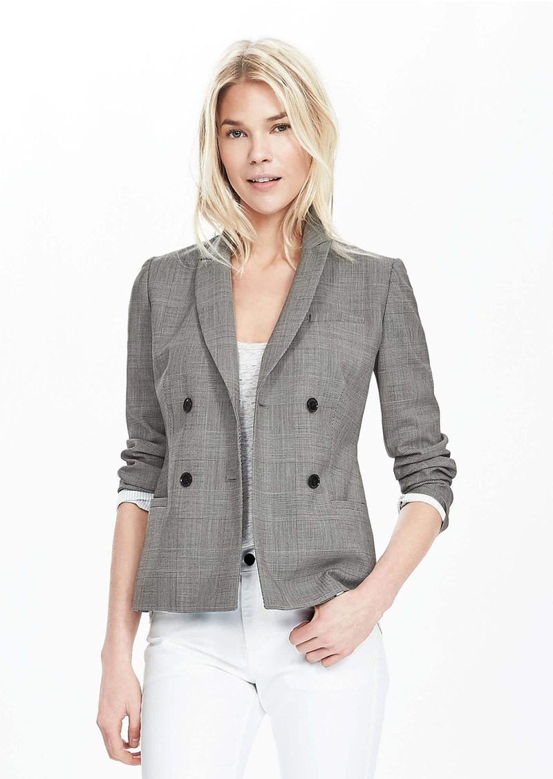 e0acc2fbd256f Banana Republic Windowpane Lightweight Wool Double-Breasted Blazer ...