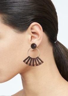 Banana Republic Wood Fan Earrings