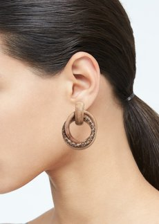 Banana Republic Wood Multi Hoop Earrings