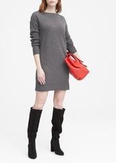 Banana Republic Wool-Cashmere Blend Boat-Neck Sweater Dress