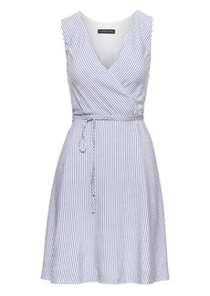 Banana Republic Stripe Wrap Dress