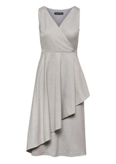 Banana Republic Wrap-Effect Wool Blend Midi Dress