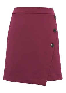 Banana Republic Wrap-Front Mini Skirt