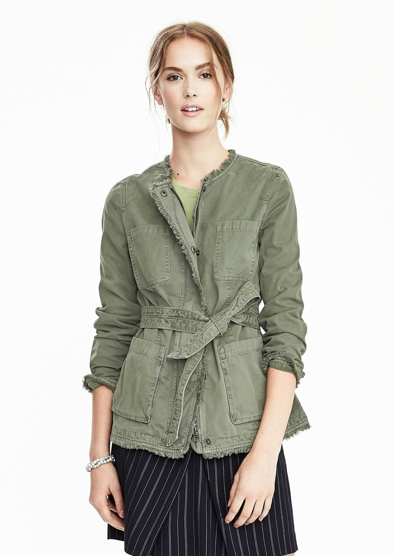 Banana Republic Wrap Military Jacket