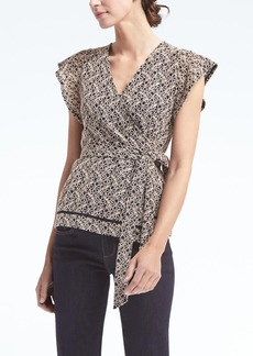 Banana Republic Wrap Top with Ladder Lace