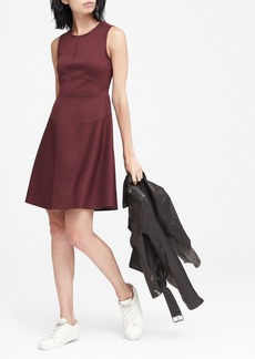 Banana Republic Wrinkle-Resistant Neoprene Fit-and-Flare Dress