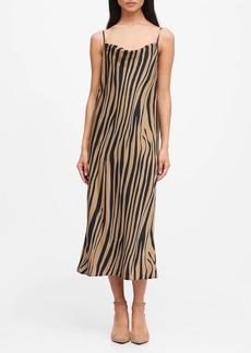 Banana Republic Zebra Print Slip Dress