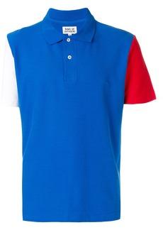 Band Of Outsiders colour block polo shirt - Blue