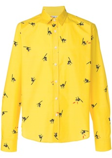 Band Of Outsiders Smelly Cat poplin shirt - Yellow & Orange