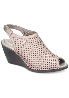 Bandolino Apela Perforated Wedge Sandals Women's Shoes