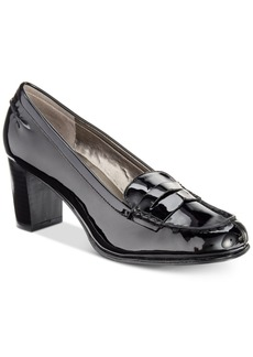 Bandolino Arrie Block-Heel Loafer Pumps Women's Shoes