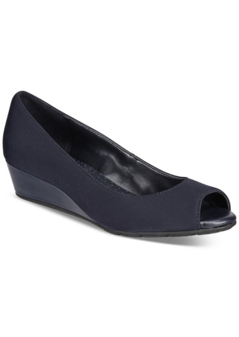 Bandolino Candra Peep-Toe Wedge Pumps Women's Shoes