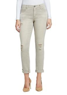 Bandolino Destructed Design Boyfriend Jeans