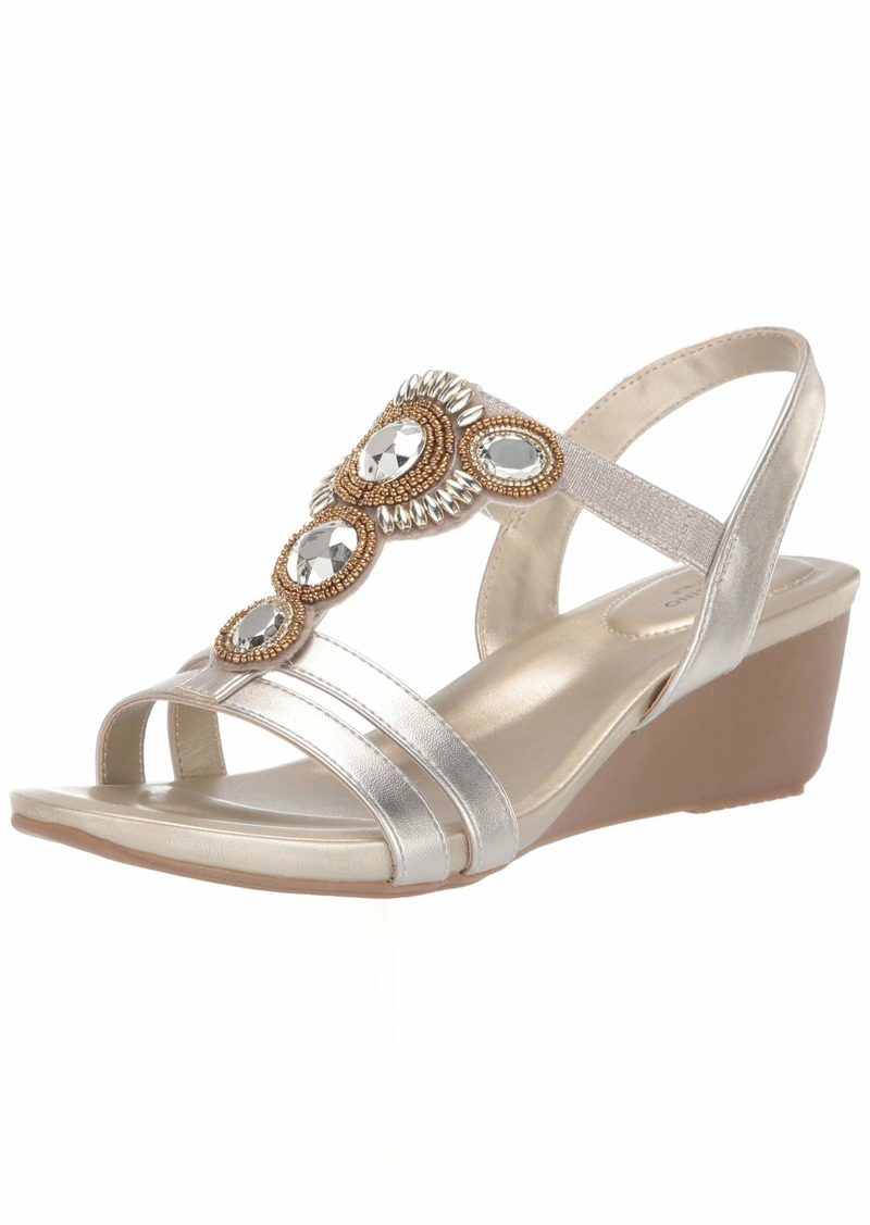 Bandolino Footwear Women's HAMBY Wedge Sandal   Medium US
