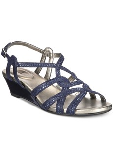 Bandolino Galtelli Embellished Wedge Sandals Women's Shoes