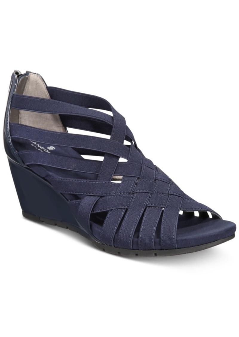 Bandolino Gillmiro Strappy Wedge Sandals Women's Shoes