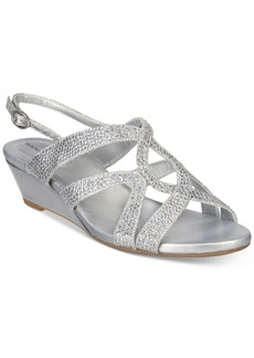 Bandolino Gomeisa Embellished Wedge Sandals Women's Shoes