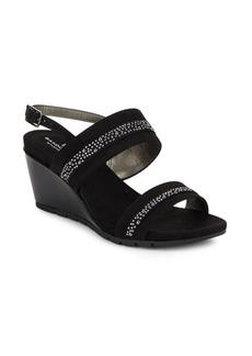 Bandolino Greedson Embellished Wedge Sandals