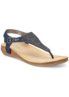 Bandolino Herby Embellished Thong Wedge Sandals Women's Shoes
