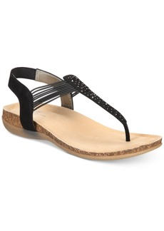 Bandolino Honour B-Flexible Wedge T-strap Sandals Women's Shoes