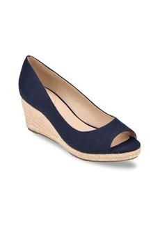 Bandolino Women's Nuri Peep-Toe Espadrille Wedge Sandals Women's Shoes