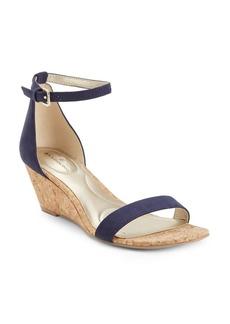 Bandolino Omira Microsuede Wedge Sandals