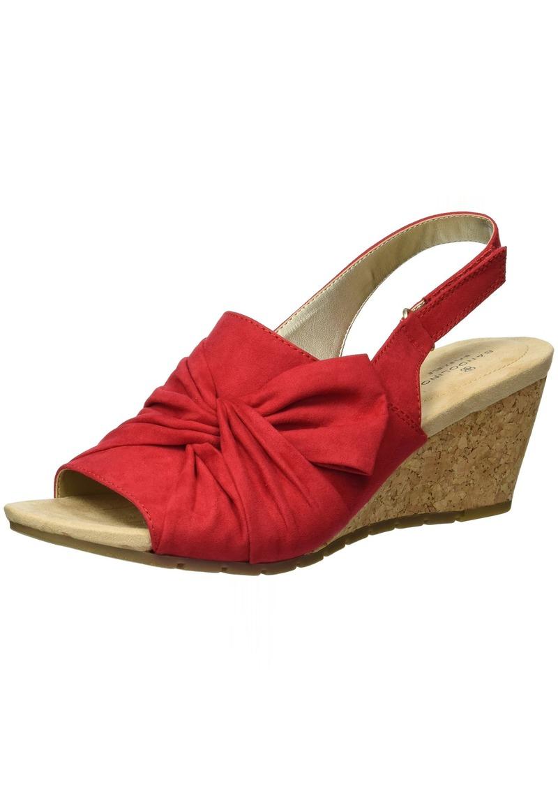 Bandolino Women's Gayla Wedge Sandal  7 M US
