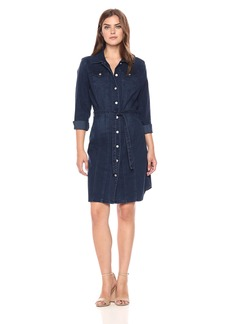 Bandolino Women's Lauren Button Front Belted Dress  X Large