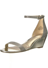 Bandolino Women's OMIRA Wedge Sandal gold fabric