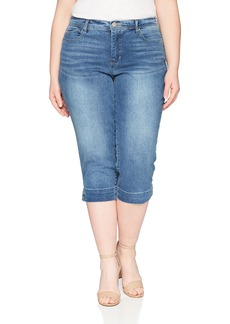 Bandolino Women's Plus Size Mandie 5 Pocket Belted Capri