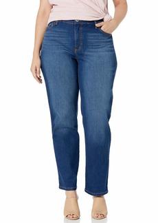 Bandolino Women's Plus Size Mandie Signature Fit High Rise Straight Leg Jean  W
