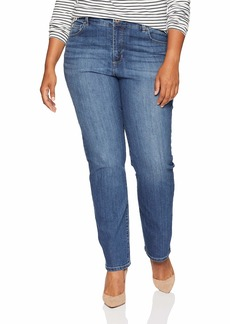 Bandolino Women's Petite Mandie Signature Fit High Rise Straight Leg Jean  8P